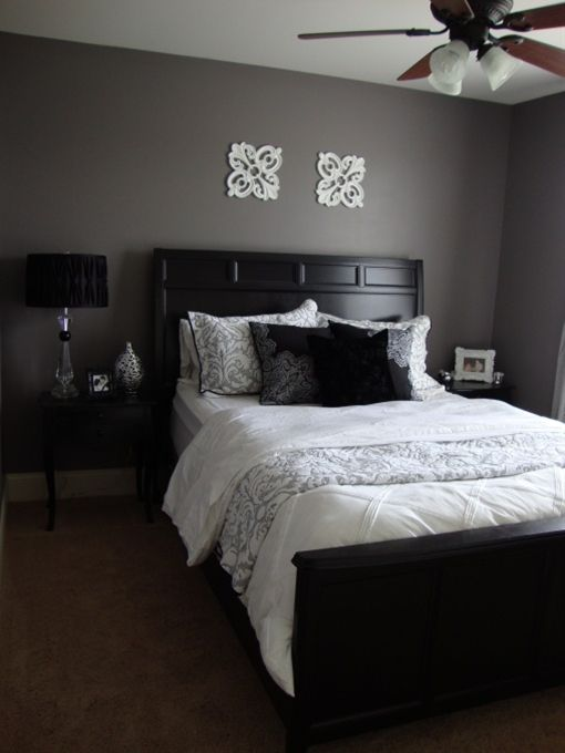 Purple Grey Guest Bedroom