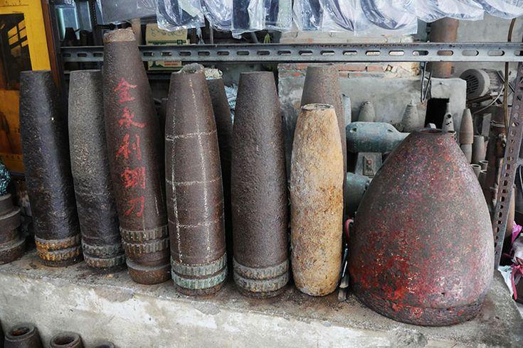 中国が台湾に撃った砲弾47万発から作った包丁が凄い / 金門島の伝説「呉さんの包丁」