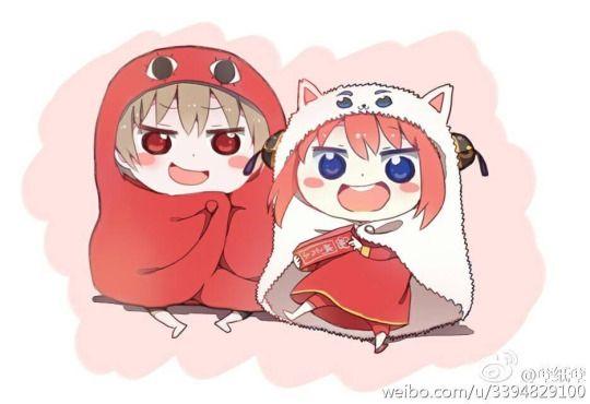 Himouto! Umaru-chan x Gintama Okita and Kagura
