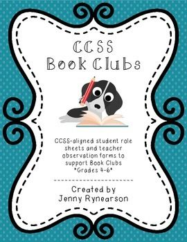 Common Core Book Clubs! Student & Teacher Pages! Plan, organize, run, & assess the book clubs/literature circles in your classroom! Colorful or white background pages! $