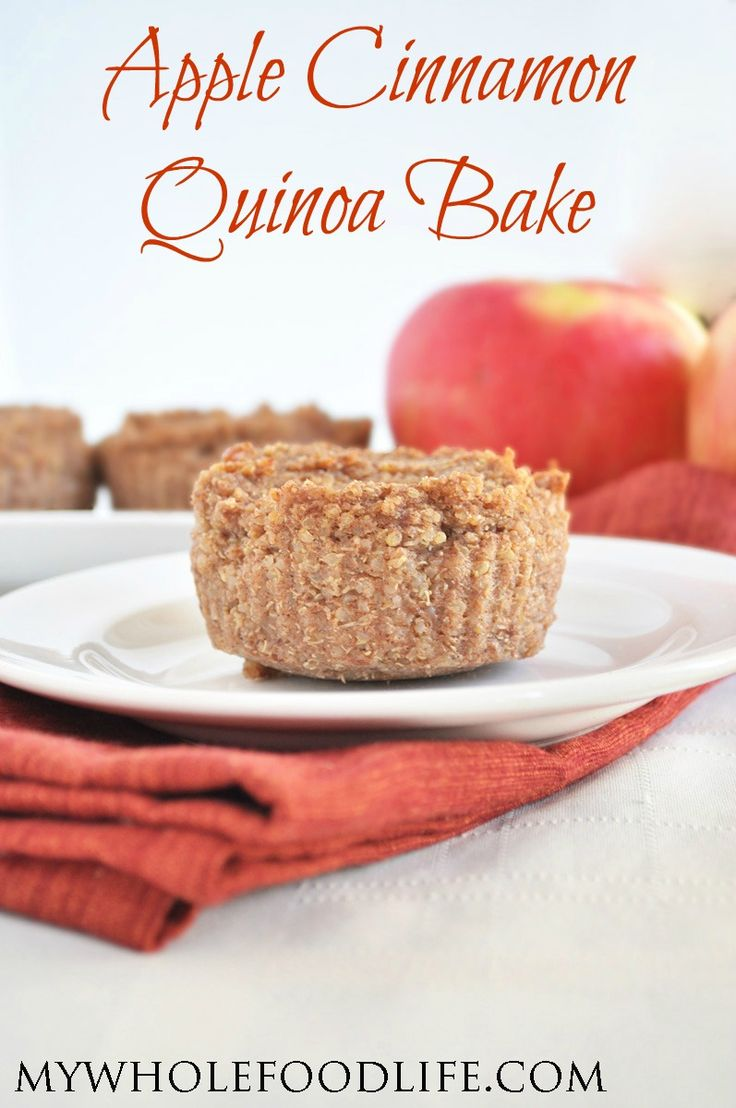 Try this Apple Cinnamon Quinoa Bake for your next weekend breakfast! No added sugar and your house will smell amazing! Vegan and gluten free.