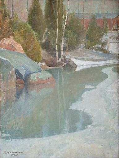 Pekka Halonen, Early Spring, 1927, The Life and Art of Pekka Halonen - from http://www.alternativefinland.com/art-pekka-halonen/