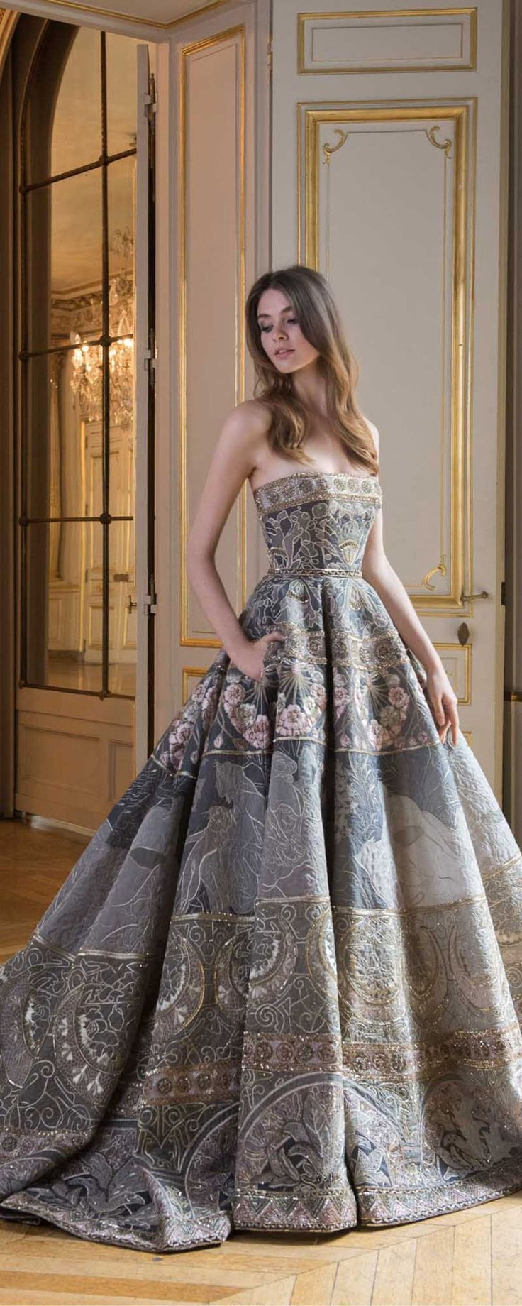 Paolo Sebastian Fall-winter 2017-2018 - Couture - http://www.orientpalms.com/Paolo-Sebastian - ©ImaxTree