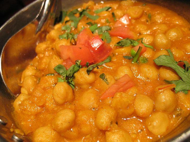 Kulinaria - potrawy z różnych stron świata: Chana Masala - ciecierzyca ze szpinakiem lub z pomidorami
