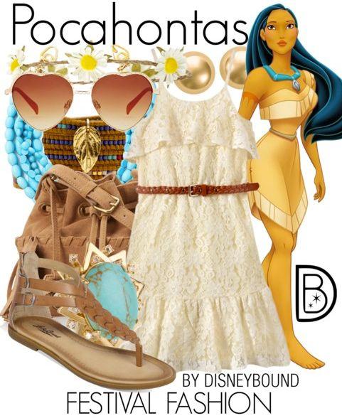 Pocahontas (Festival Fashion) - DisneyBound