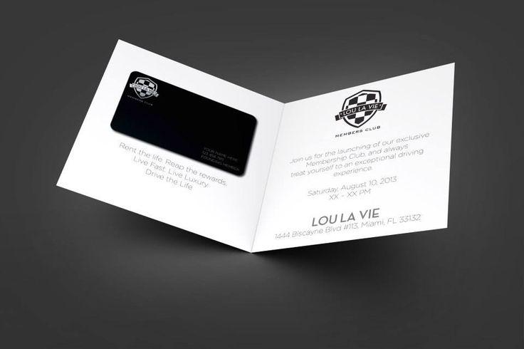 Lou La Vie VIP card design