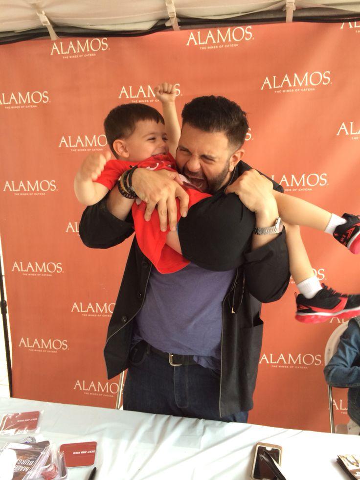 My son & Adam Richman. Taste of Chicago 7-11-15
