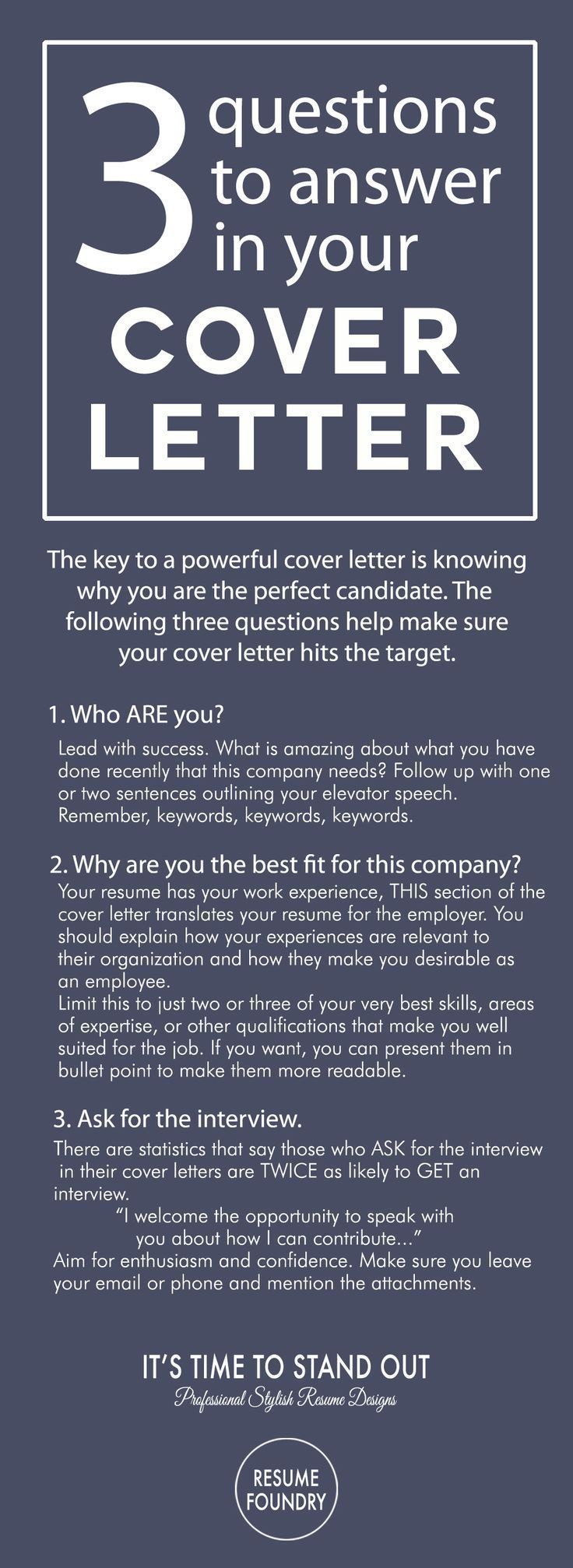 3 Questions To Answer In A Cover Letter When Applying For A Job Go Get That Interview Cover Letter Tips Job Interview Tips Resume Tips