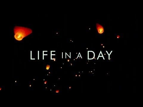 """documentary film """"life in a day""""...captures People in 140 countries around the world captured snippets from their lives on that day and submitted 80,000 video clips to YouTube."""