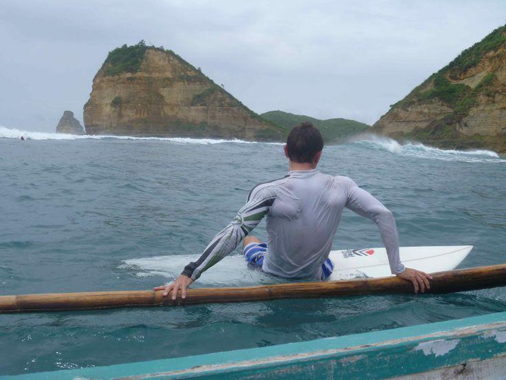 Surfing on Lombok - Gerupuk