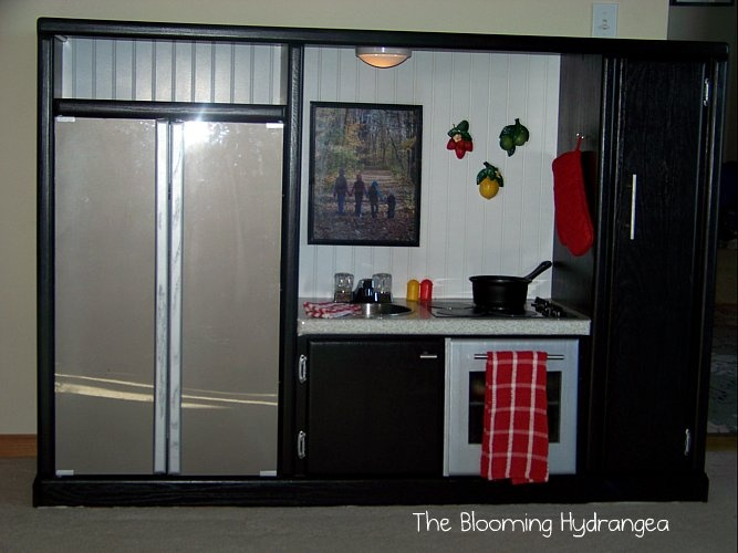 Diy Entertainment Center Turned Play Kitchen This Is Seriously Sweet And There Are Many More