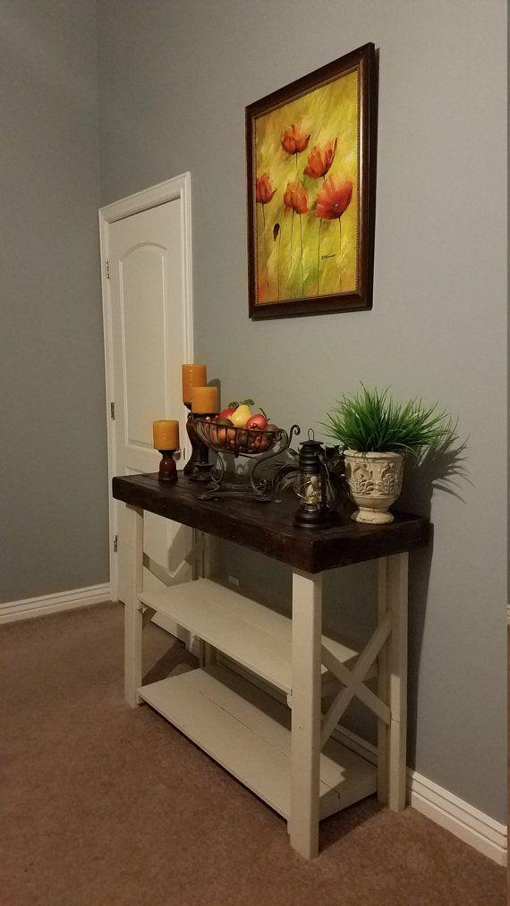 Mesa consola de estilo rústico mesa de sofá rústico entrada