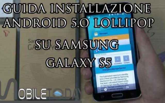 Guida installazione Android 5 Lollipop Galaxy S5 #galaxys5 #android5lollipop #guida