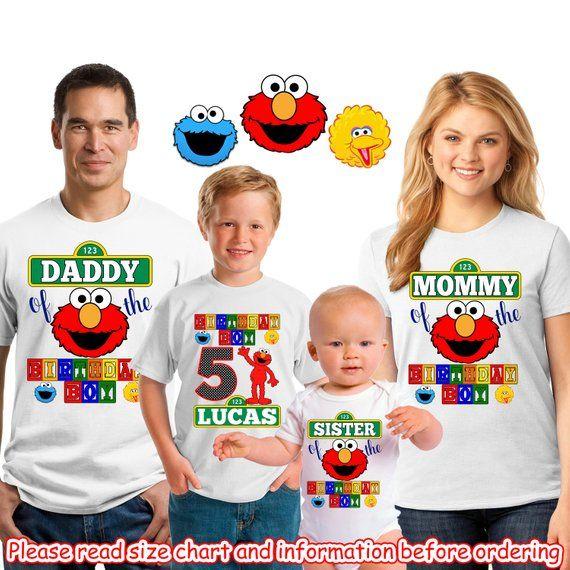Personalized Elmo Birthday Shirtelmo 1st 2nd First Shirtelmoshirt Boyshirt GirlSFT5 Name