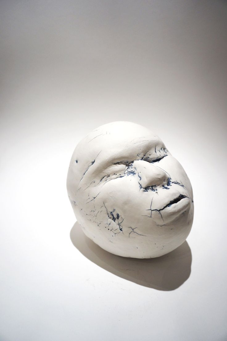 Scull-like Head, Ceramic Sculpture (SOLD)