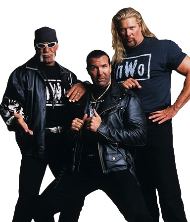 Hollywood Hulk Hogan. The Outsiders Scott Hall & Kevin Nash. The Original members of The NWO