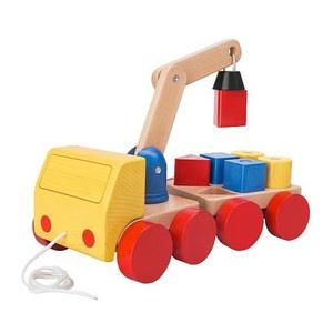 イケアIKEA木のおもちゃクレーン車知育玩具北欧家具 Scandinavian toys ¥3900円 〆03月24日