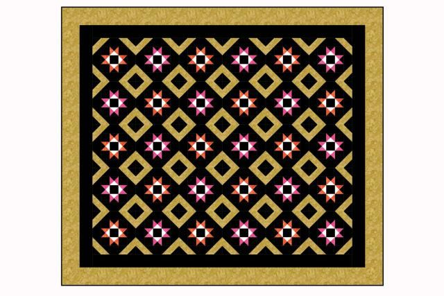 Square and a Half is an easy bed quilt pattern that can be customized to suit any decor. It's simple to make this quilt larger or smaller as needed.