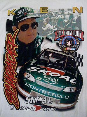 Vintage Ken Schrader T shirt- with his #33 Skoal Monte Carlo- 1998 NASCAR 50th anniversary! http://stores.ebay.com/NYC-Fitness-Family-and-Finds