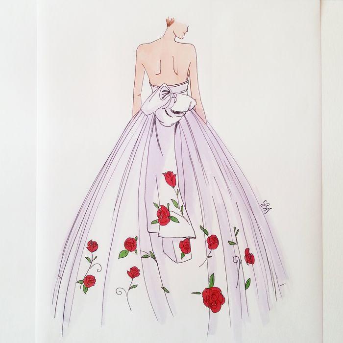 A different wedding gown #fashionillustration #casabignami #wedding