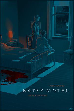 """Affiche originale san Diego Comecon """"Bates Motel"""" par Laurent Durieux (07/25/14) Lithograph. Taille 24""""X36"""".@asgalerie #asgalerie #LaurentDurieux #batesmotel #sandiegocomicon."""