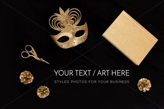 Gold Styled Desktop Gold Photography Mock Gold by confettibears