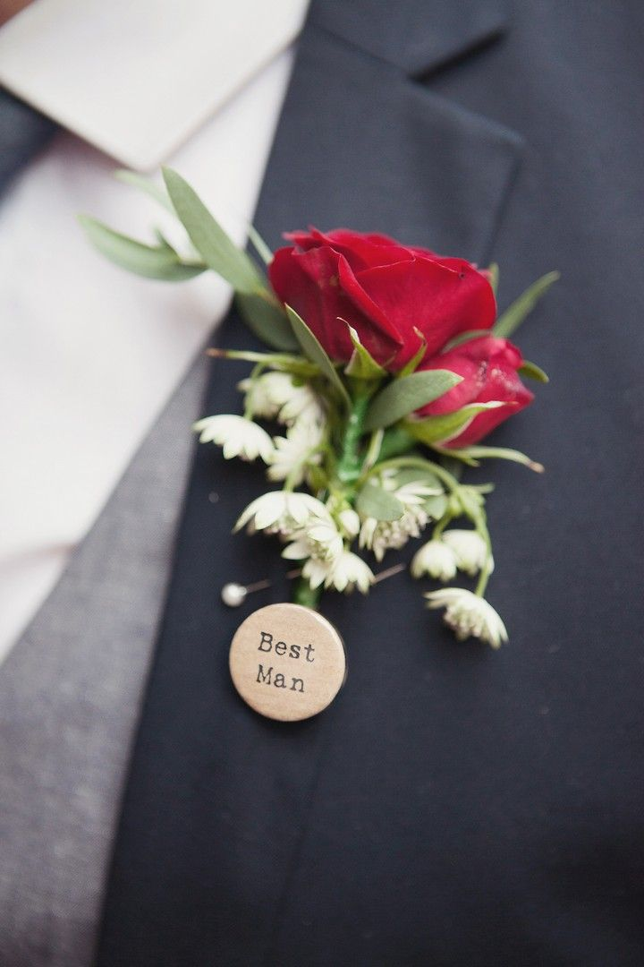 best man badge.