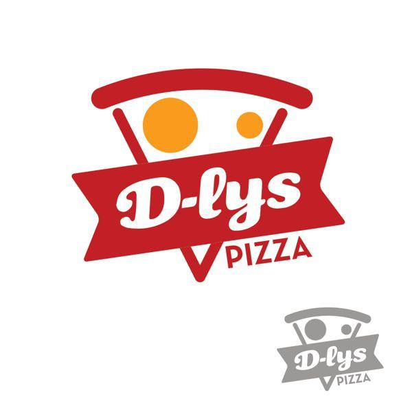 Pizza D-lys logo design by Karim abid, via Behance