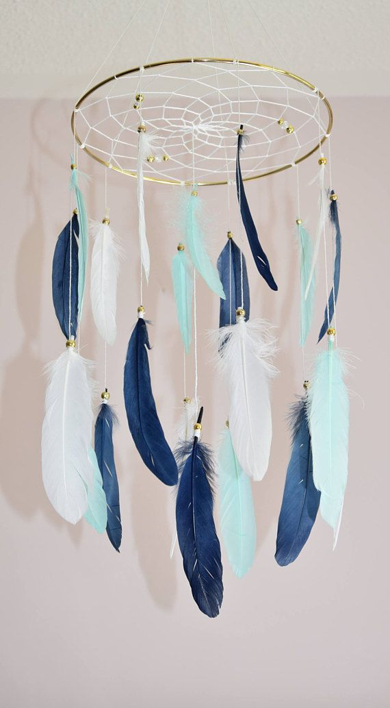 Woodland Baby Mobile Baby Boy Nursery Decor Dreamcatcher