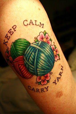 yarn lady: Tattoo Ideas, Carry Yarn, Tattoos, Yarns, Tattoo'S, Keep Calm, Yarn Tattoo