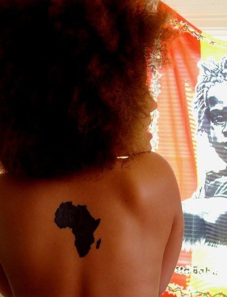 Image via We Heart It https://weheartit.com/entry/48726655 #africa #Afro #tattoo