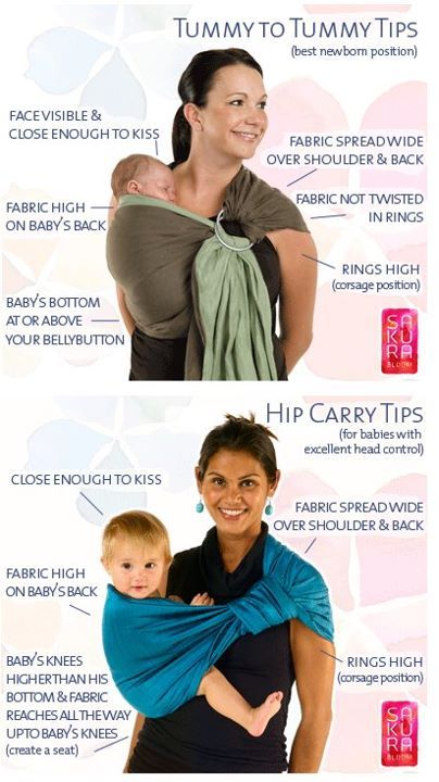 For all my friends who have one of these and have no idea what to do with it :) Ring Sling carry suggestions