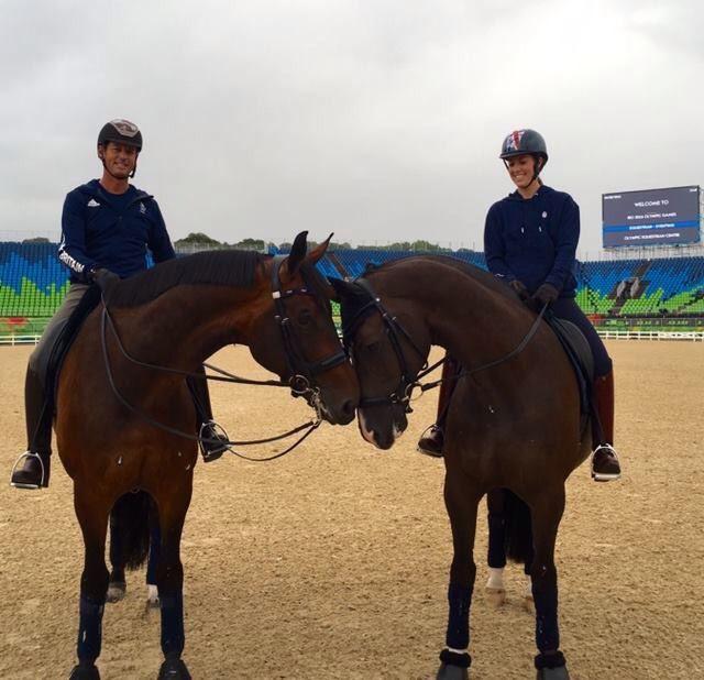 Carl Hester, Nip Tuck, Valegro and Charlotte Dujardin training in Rio