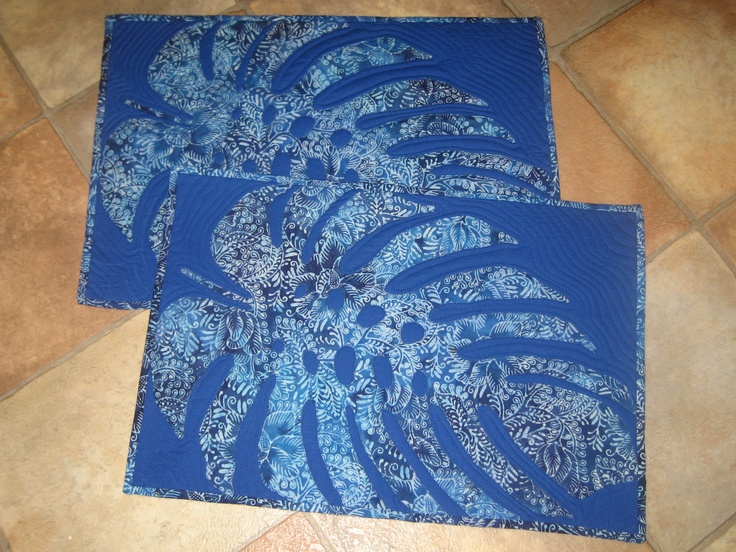 Tropical placemats...I love these so much!