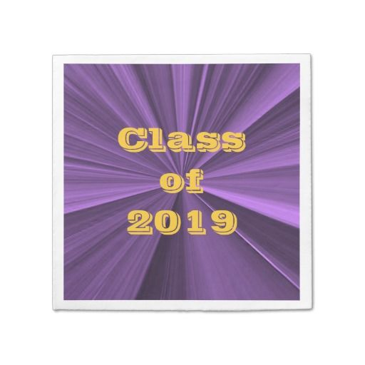 Class Of 2019 Purple And Gold Napkins By Janz