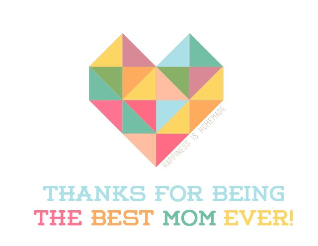 Geometric Heart Printable Mother's & Father's Day Cards - Happiness is Homemade