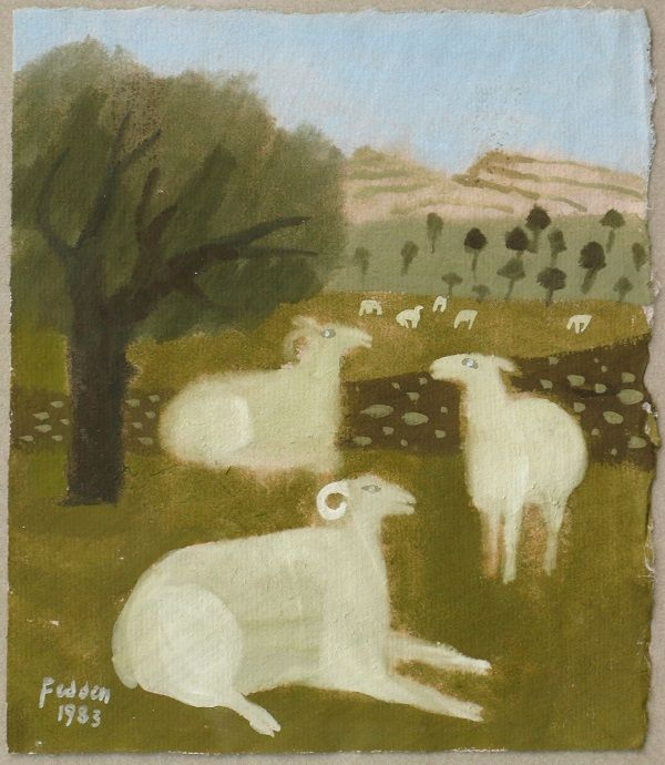 'Sheep in Pasture' by Mary Fedden, 1983