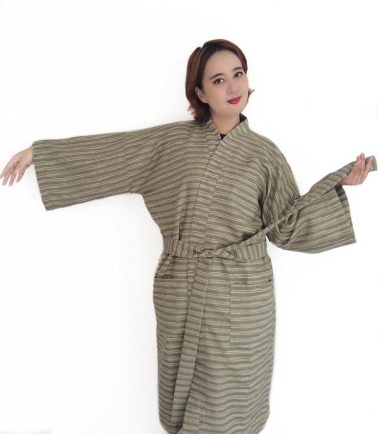 Organic 100 percent natural cotton handmade kimono style bathrobes. Get your own style before they sell out http://www.etsy.com/shop/AtSiam ::::: Accept on Paypal ::::: Shipping world wide #kimono #bathrobe #robe #home #bridesmaids #sleepingbeauty #beachwear #style #beauty #beachbody #cotton #Pajamas #interior #handcrafted #maternity #women #men #handmade #artoftheday #design #Yukata #Room #clothing #bathroom #Atsiam #homedecor #wedding #etsy #Luxuryhome #dressinggown