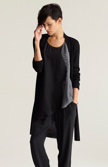Eileen Fisher Cardigan, Shell & Slouchy Silk Pants  available at #Nordstrom