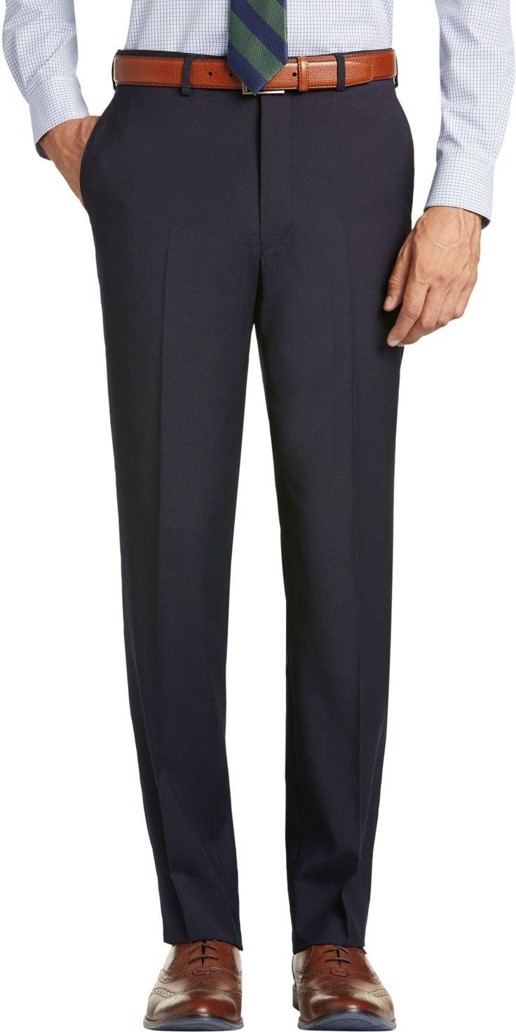 1905 Tailored Fit Flat Front Suit Separates Pants - Big & Tall