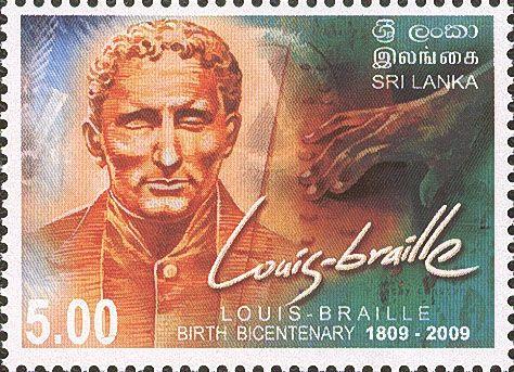 2009 Sri Lanka Birth Centenary Louis Braille 1809-2009