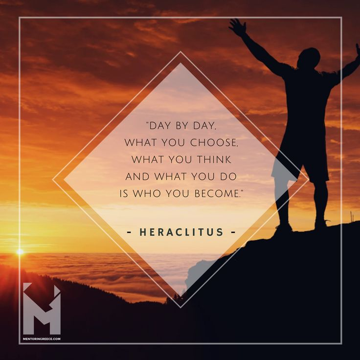 Greek quote of the day!   The content of your character is your choice!  Heraclitus of Ephesus (Ηράκλειτος, c. 535-475 BCE) was a Greek philosopher, known for his doctrine of change being central to the universe, and for establishing the term Logos (λόγος) in Western philosophy as meaning both the source and fundamental order of the Cosmos. He was known to his contemporaries as the 'dark' philosopher, so-called because his writings were so difficult to understand.  #Heraclitus…