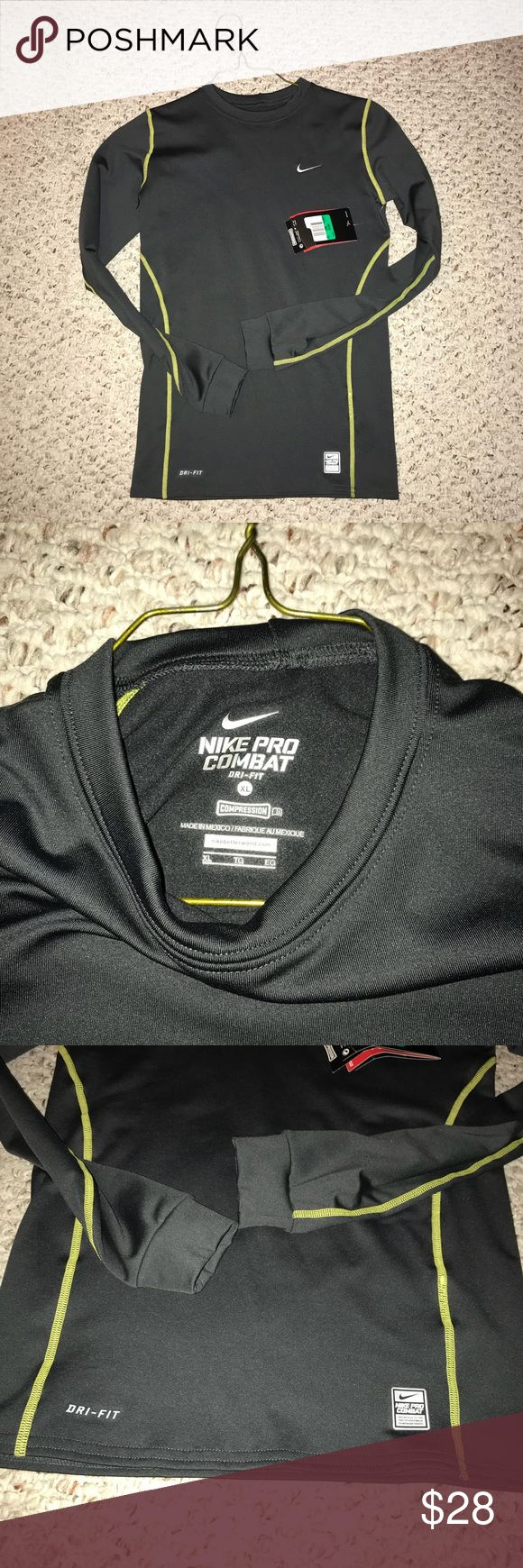 NWT Nike pro combat Long sleeve Tshirt (Boys XL) NWT Nike pro combat Long sleeve Tshirt   Boys XL  Great condition   Not worn before Nike Shirts & Tops Tees - Long Sleeve