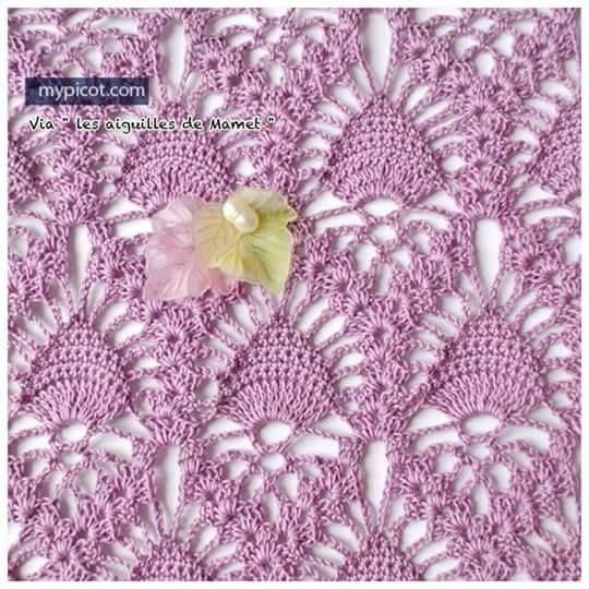 Patrón #1229: Punto Calado Pavo Real a Crochet | CTejidas [Crochet y Dos Agujas]
