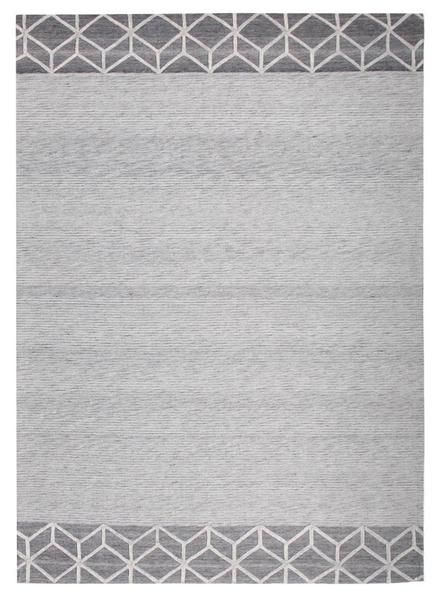 This new addition features a beautiful modern pattern in a luxurious finish, available in 4 sizes: 225 x 155cm, 280 x 190cm, 320 x 230cm & 400 x 300cm: Vienna 2357 Hand Loomed Grey Patterned Wool and Viscose Modern Rug