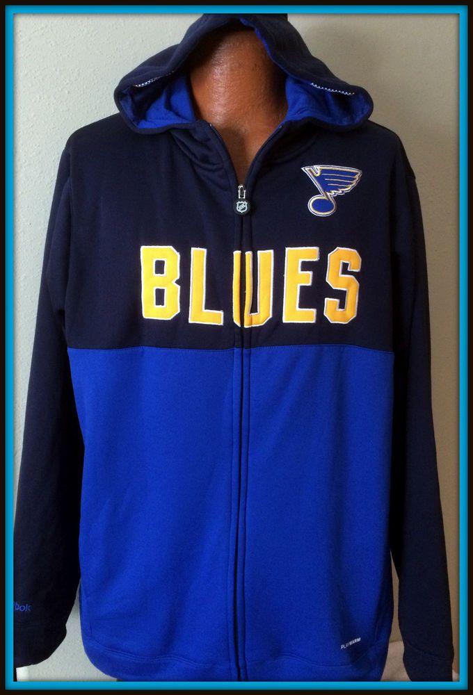 reebok 24 7 jersey hoodie. st. louis blues reebok full zip hooded face off play warm sweatshirt adult xlg 24 7 jersey hoodie p