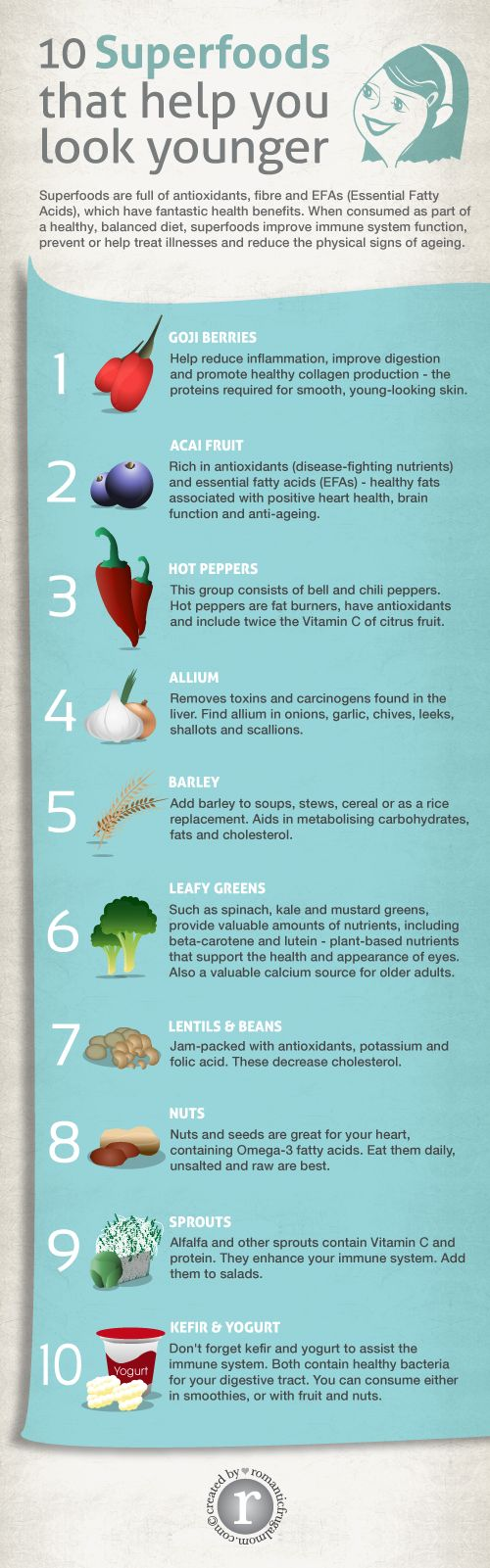 10 Superfoods That Help You Look Younger #infographic