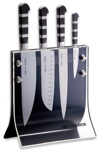 Dick 1905 Knife Block Includes Chefu0027s Knife, Santoku Knife, Slicer And  Paring Knife