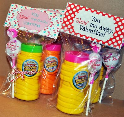 """You 'Blow' Me Away"" Valentine Treat Bag Topper {Printable}...would be SUPER cute for testing as well!"