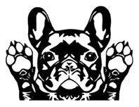 French Bulldog Vinyl Car sticker by StickersOnlineStore on Etsy